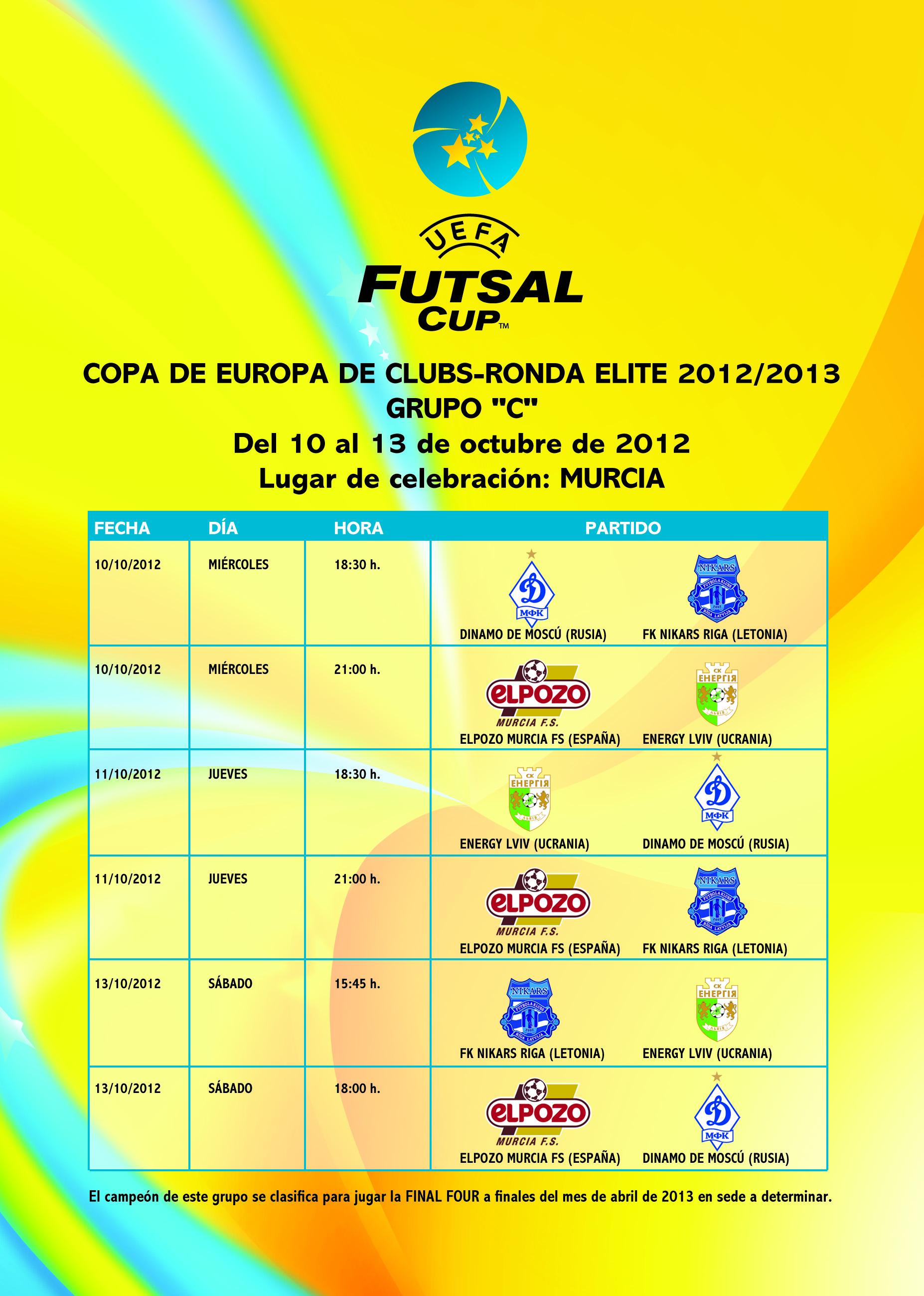 ElPozo Murcia presenta los abonos para la Ronda Élite de la UEFA Futsal Cup