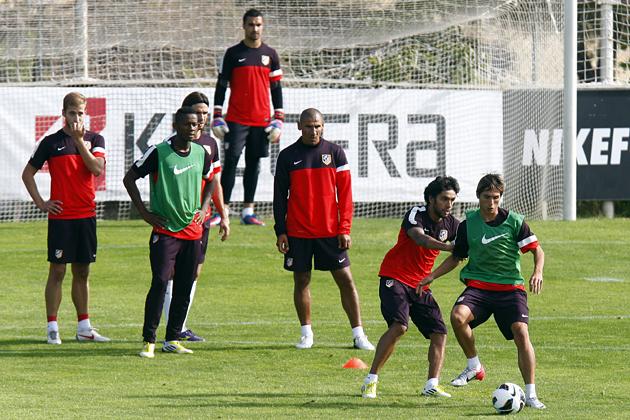 La cantera, protagonista en el entrenamiento del Atlético de Madrid