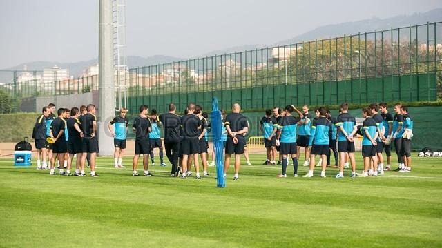 Nueva sesión preparatoria junto al Barça B
