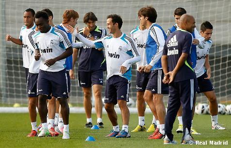 Primer entrenamiento para el encuentro contra el Sevilla FC