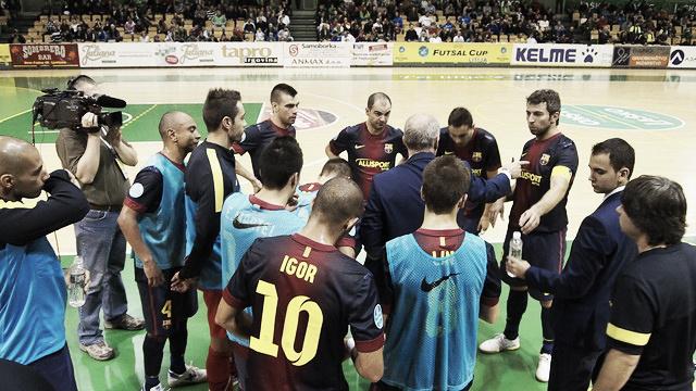 FC Barcelona Alusport - FC Litija: último peldaño
