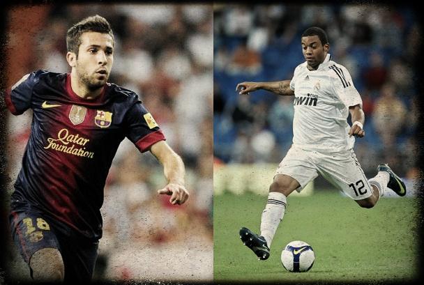 Marcelo y Jordi Alba, los jóvenes laterales izquierdos del Clásico