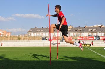 Primer entrenamiento de cara al partido frente al Espanyol