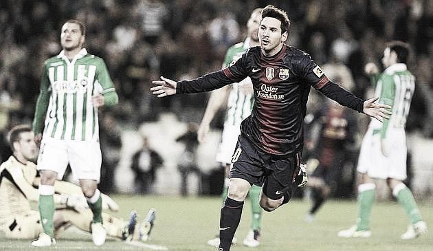 El Barça sufre ante el Betis en la noche que Messi amplió su leyenda