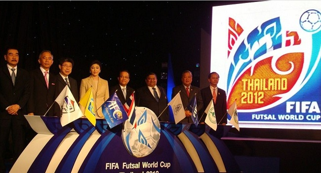 Los nombres del Mundial de Fútbol Sala Tailandia 2012