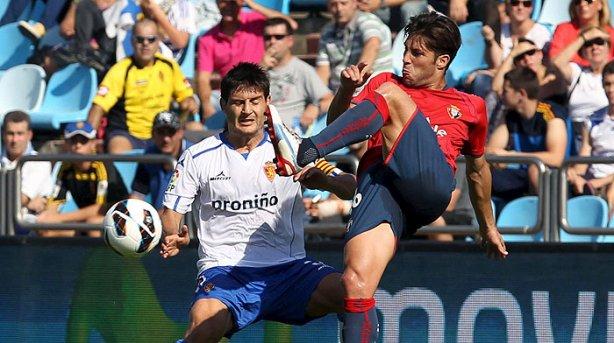 Cuarta derrota de Osasuna, esta vez frente al Zaragoza