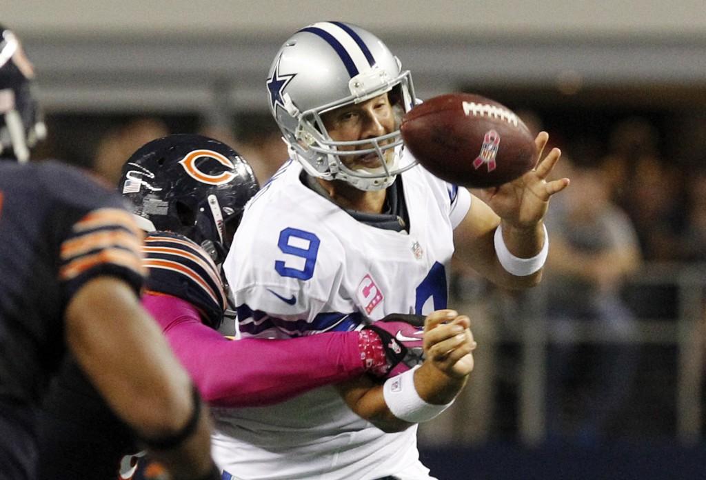 Noche negra para Tony Romo ante unos eficientes Bears
