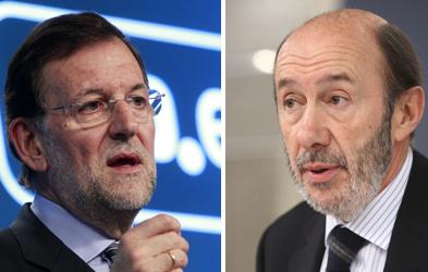 """El """"sprint"""" final de Rubalcaba y Rajoy"""