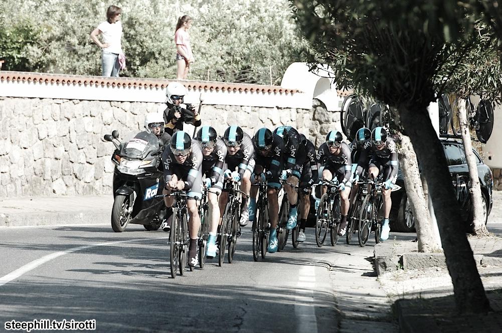 Giro d'Italia - étape 2 : Sky remporte le chrono