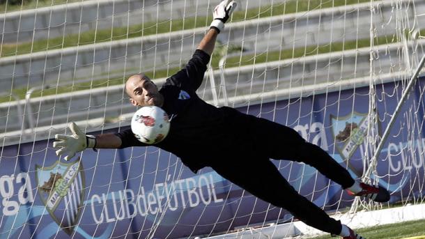 El Málaga vuelve a entrenarse tras la jornada de descanso