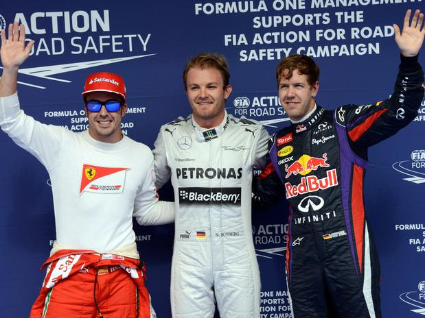 Rosberg gets the pole position in Bahrain