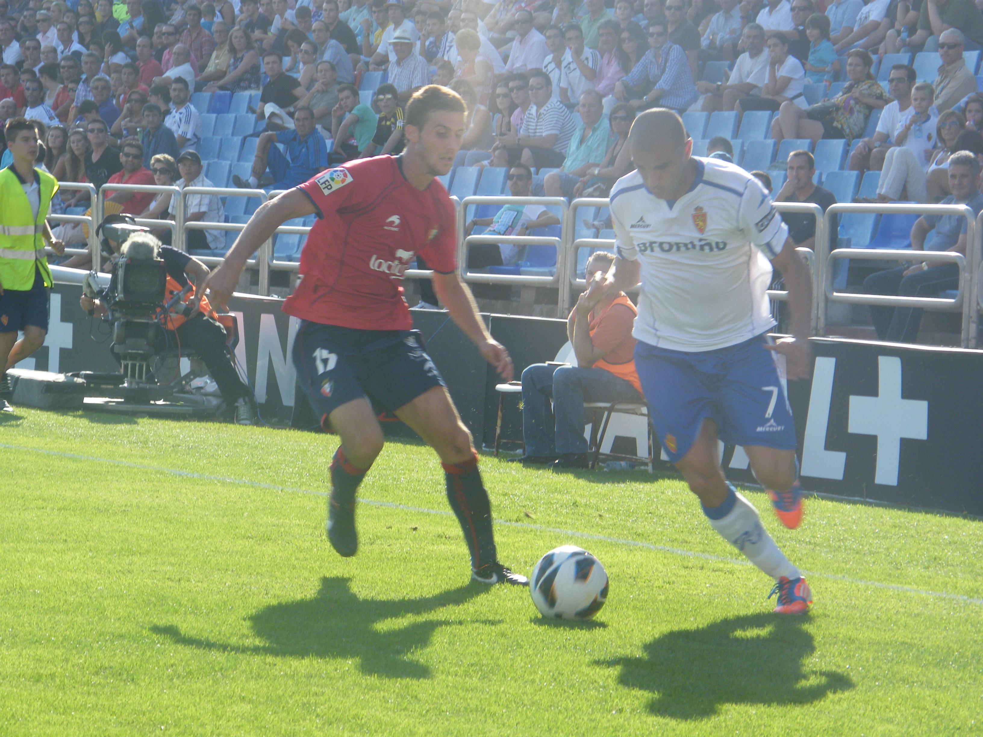 Aranda no está feliz, a nivel deportivo, en el Zaragoza