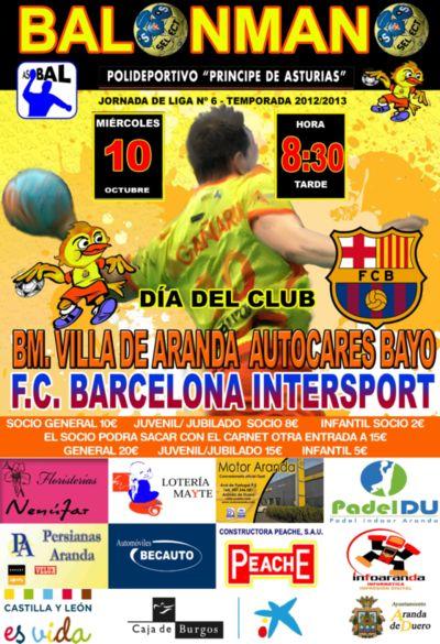 El Villa de Aranda pone a la venta las entradas ante el FC Barcelona