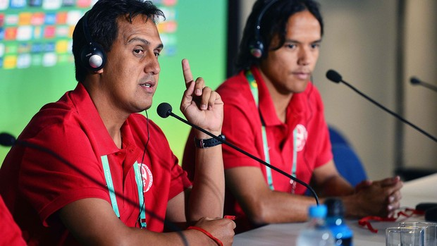 Para jogo contra a Nigéria, técnico do Taiti quer apenas seu time jogando bem