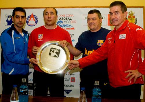 Los cuatro entrenadores analizan la Copa ASOBAL 2013