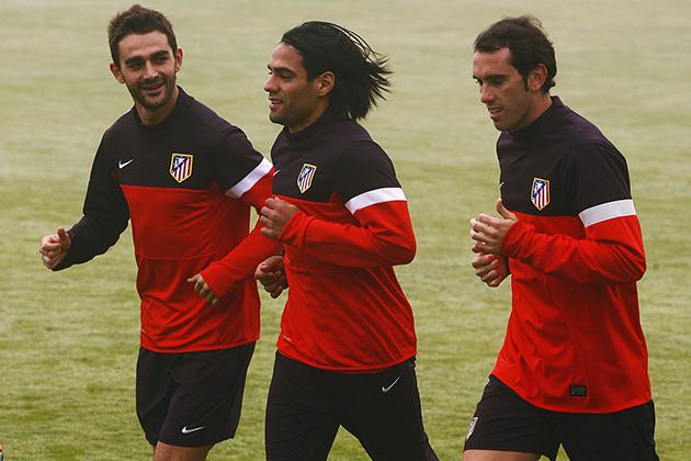 Los titulares del Atlético en Anoeta se ejercitan con una sesión regenerativa