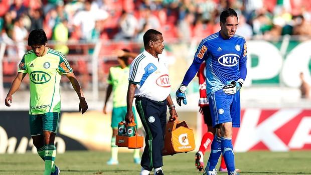 Com lesão no ombro, Fernando Prass desfalca Palmeiras por 45 dias