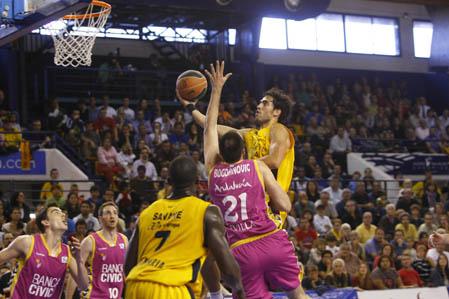 Importante victoria del Banca Cívica ante un débil Gran Canaria 2014 (66-74)