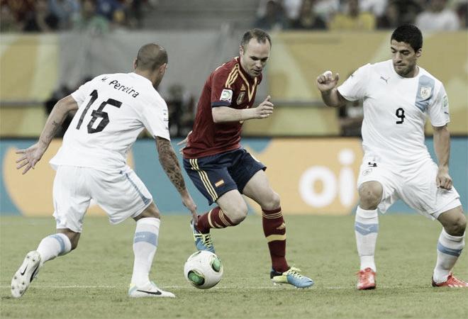 España - Uruguay, puntuaciones de España, fase de grupos de la Copa Confederaciones, jornada 1