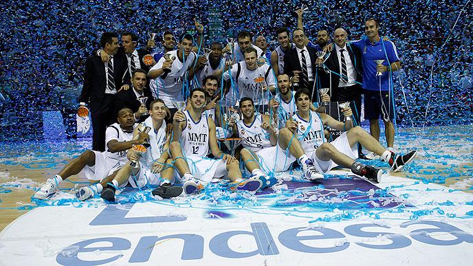 El Madrid levanta su primera Supercopa tras derrotar al 'Barça' Regal (84-95)