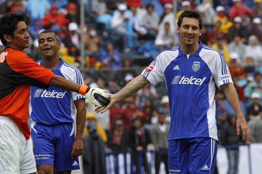 """3 mexicanos en el """"Messi & friends"""""""