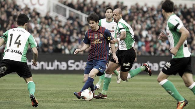 Racing 0 - Barcelona 2: un doblete de Messi decide en El Sardinero