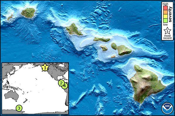 Un tsunami alcanza la costa de Hawai