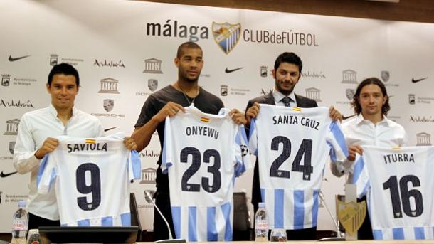 El Málaga presenta a los nuevos fichajes