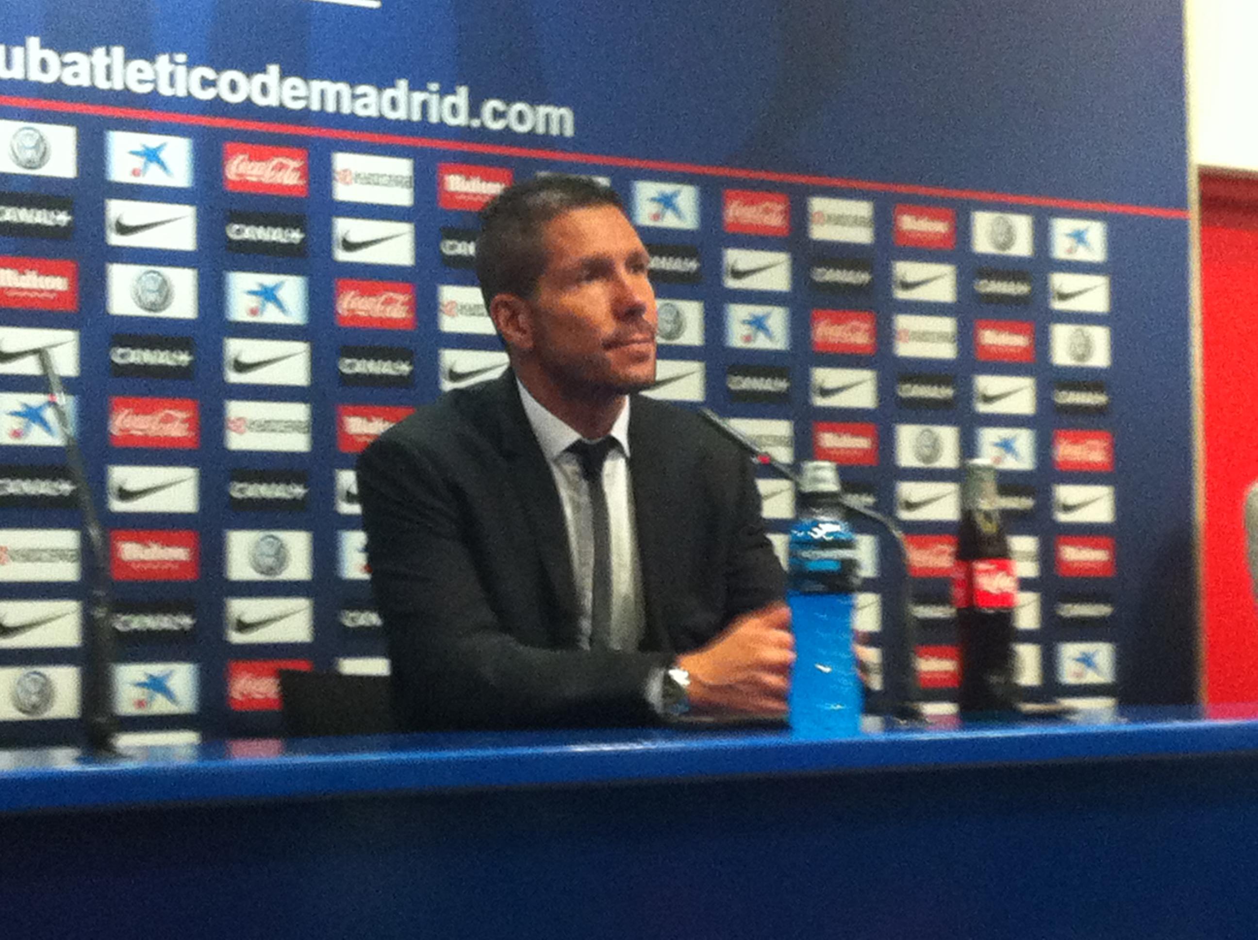 """Simeone: """"Manejamos bien el partido y tuvimos ocasiones"""""""