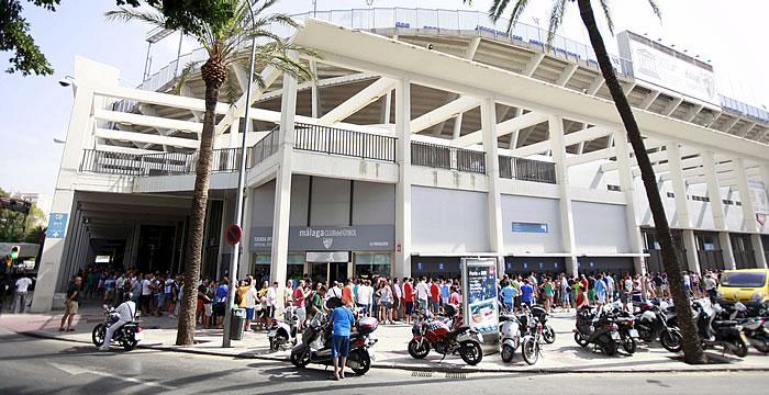 Las entradas para los dos próximos partidos en La Rosaleda oscilarán entre 10 y 35 euros