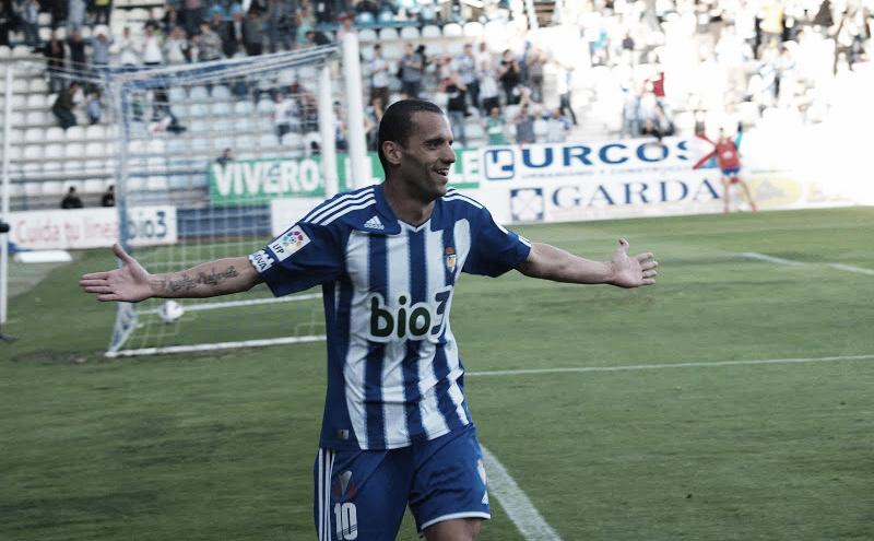 Yuri, entre los mejores goleadores por minutos disputados de la Liga Adelante