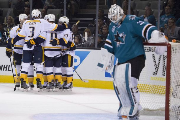 Nashville Predators Move Into First Place With Win Over San Jose Sharks