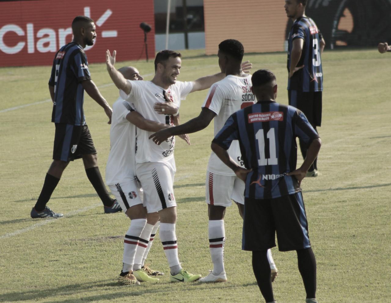Com dois de Pipico, Santa Cruz goleia Ypiranga-AP e avança na Copa do Brasil