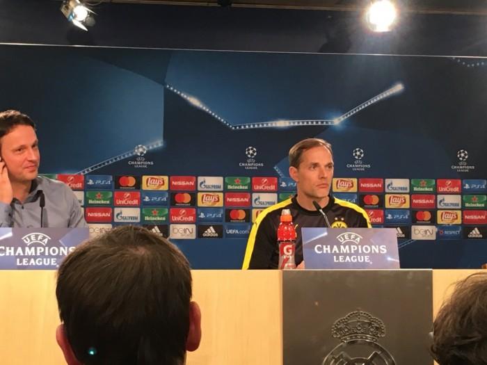 """Real-Borussia, Tuchel: """"Dobbiamo dimostrare di meritarci il primo posto"""""""