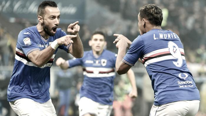 Sampdoria, squadra al lavoro in vista della sfida con l'Inter