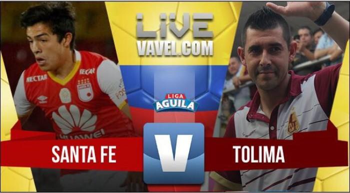 Independiente Santa Fe vs Deportes Tolima en vivo y en directo por Liga Águila 2017-II