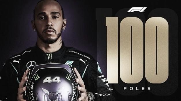 """Lewis Hamilton diz não acreditar que fez a pole de número 100: """"Nunca imaginei que chegaria a este número"""""""