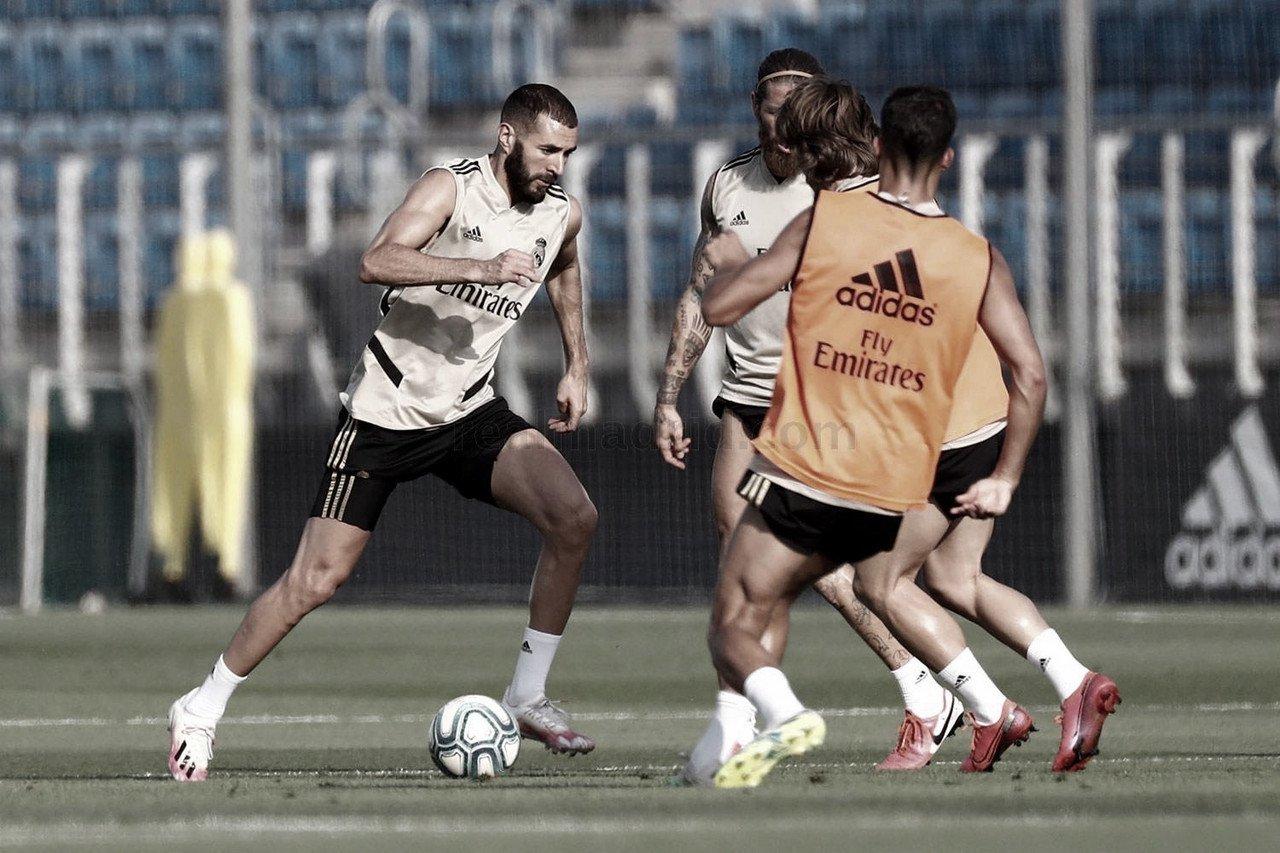 Entrenamiento vespertino en la Ciudad Real Madrid