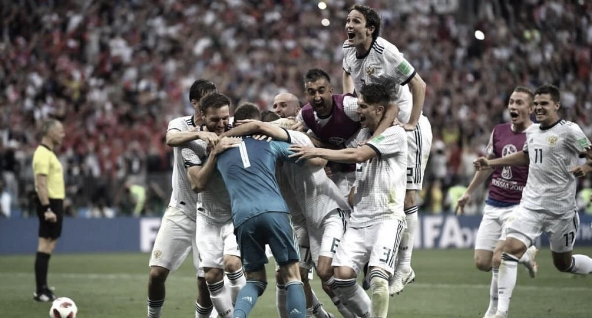 España batalló pero Rusia salió airosa ante su gente