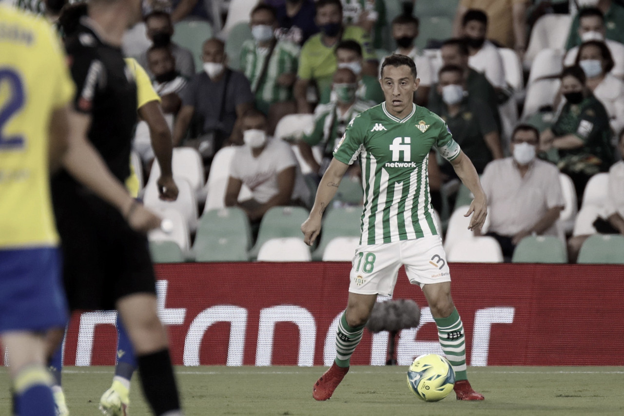 Real Betis vs Cádiz (1-1); Empate amargo en el Villamarín