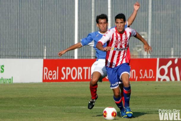 El Sporting B gana su primer partido oficial gracias a un buen primer tiempo