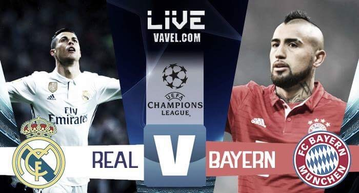 Risultato Real Madrid - Bayern Monaco in Champions League 2016/17 - Lewandowski, Ronaldo (3), Ramos (A), Asensio (4-2)
