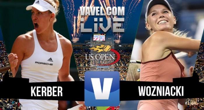 Resultado Angelique Kerber x Caroline Wozniacki pelo US Open 2016 (2-0)