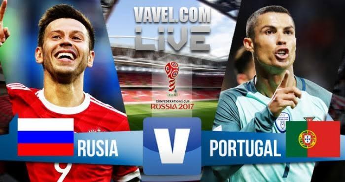 Resultado Rússia 0x1 Portugal na Taça das Confederações 2017
