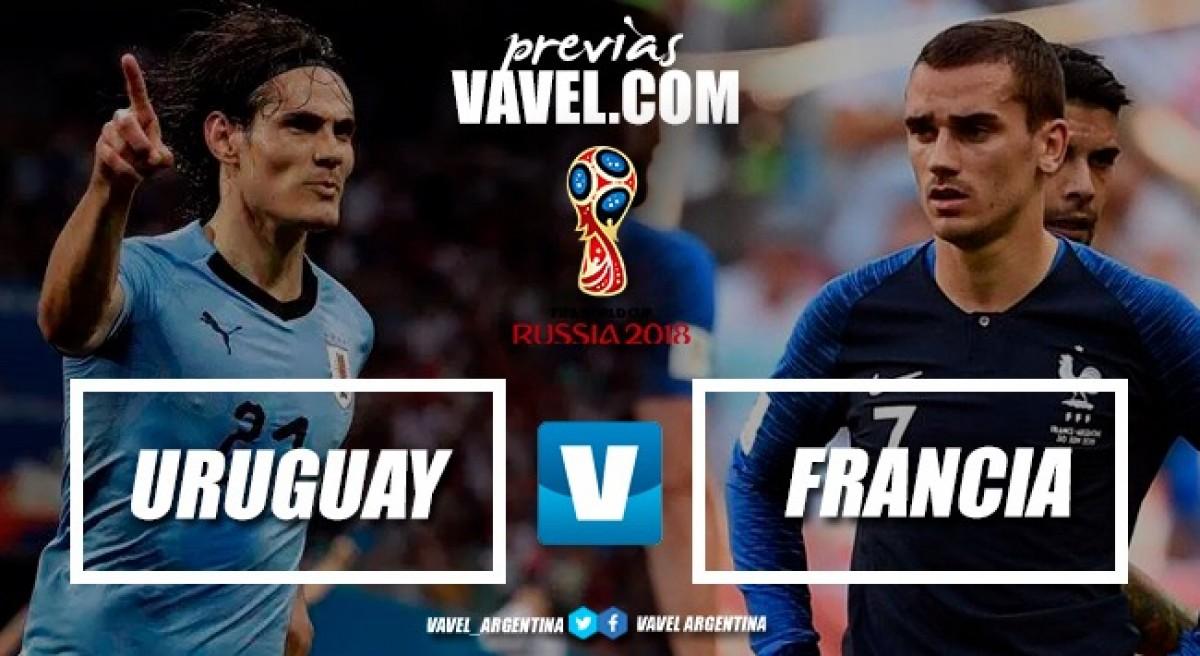 Previa Uruguay - Francia: el veloz ataque europeo ante la aguerrida defensa charrúa