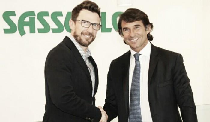 Sassuolo, ufficiale il rinnovo di Eusebio di Francesco: contratto fino al 2019