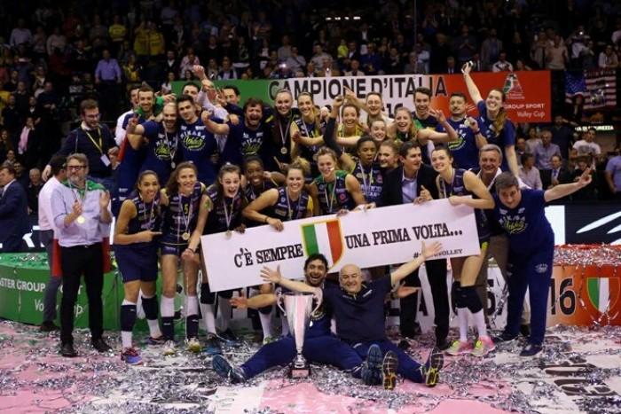 Volley F, l'Imoco Volley Conegliano è Campione d'Italia! Battuta la Nordmeccanica Piacenza 3-0 in gara4