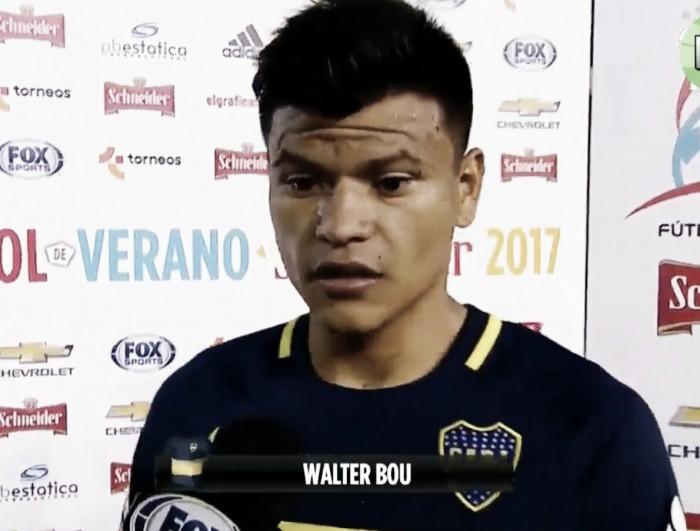 """Walter Bou: """"Me sentí muy bien jugando con Benedetto"""""""