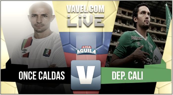 Partido Once Caldas 0-2 Deportivo Cali por Liga Águila
