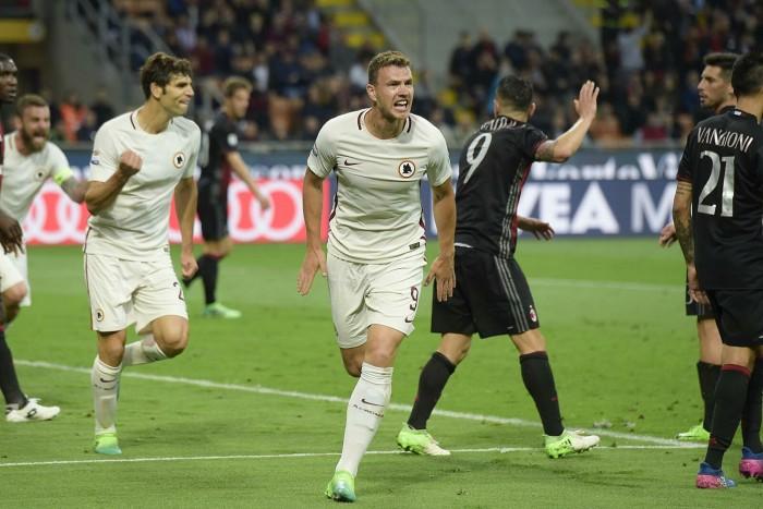 Serie A, la Roma passeggia a Milano: 1-4 al Milan di Montella